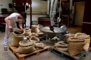 Blending Koffiebonen Koffiebranderij Wilmotte